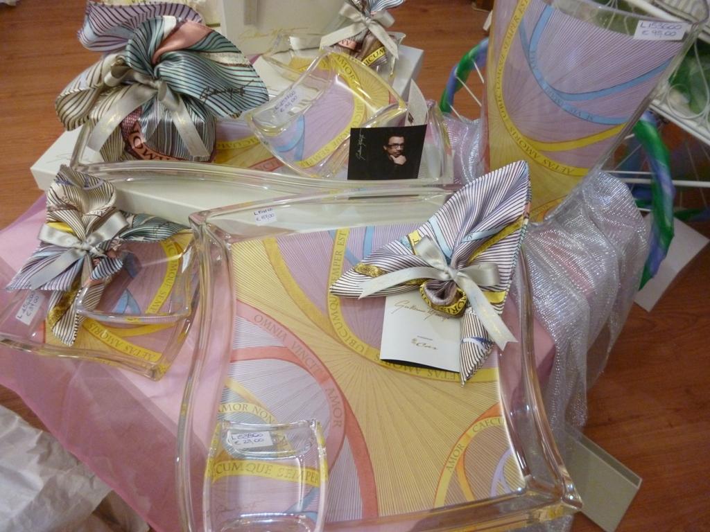 Gugliemo Mariotto bomboniere : cristalli e porcellane